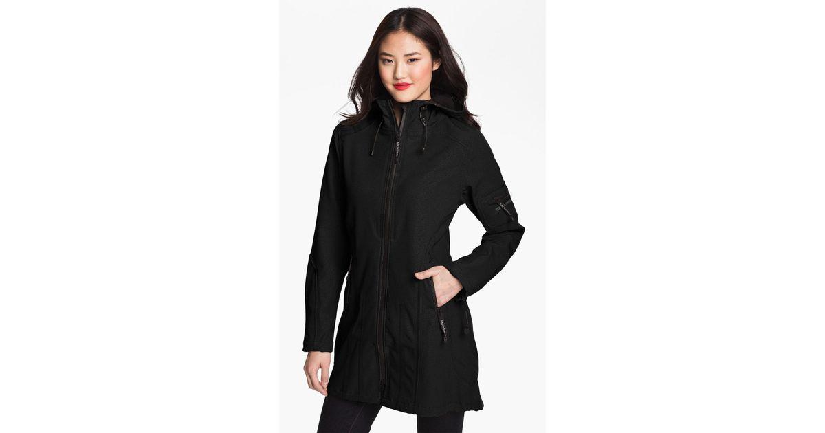 0f134deea Ilse Jacobsen Rain 7 Hooded Water Resistant Coat in Black - Lyst