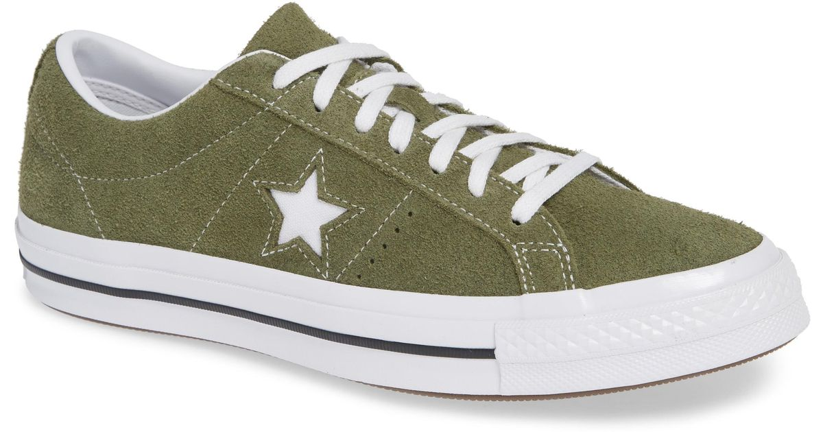 a8afde20b660ab Lyst - Converse One Star Low Top Sneaker in Green for Men