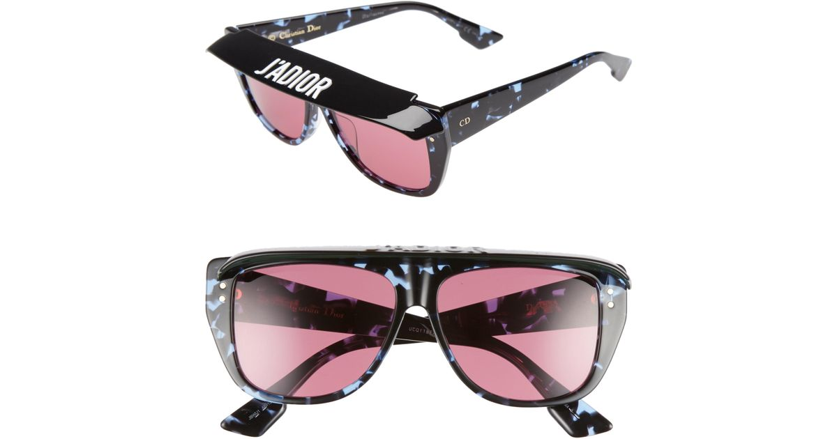 62dfcc158b0bc Lyst - Dior Club2s 56mm Square Sunglasses With Removable Visor in Blue