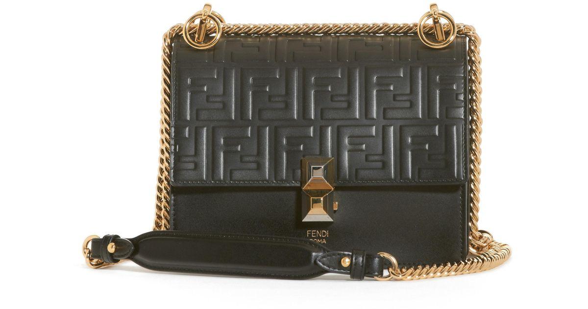67ec03e54a70 Lyst - Fendi Small Kan I Liberty Leather Shoulder Bag