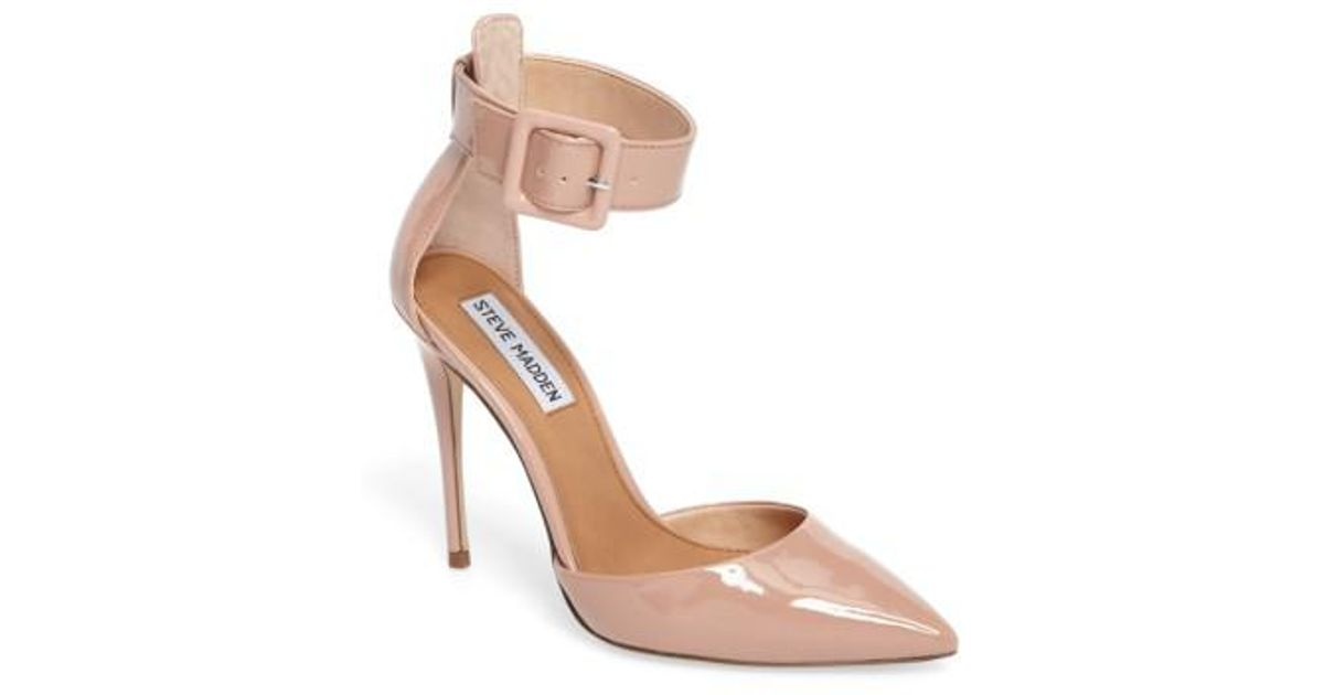 255352208f2 Lyst - Steve Madden Desire Ankle Strap Pump in Pink