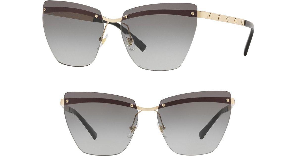 b63ef803c2745 Lyst - Versace Medusa 58mm Metal Cat Eye Sunglasses in Gray