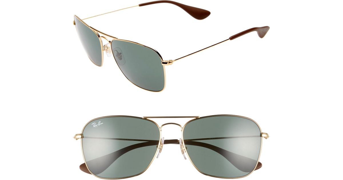 b835eac2d5 Lyst - Ray-Ban 58mm Polarized Navigator Sunglasses in Metallic for Men