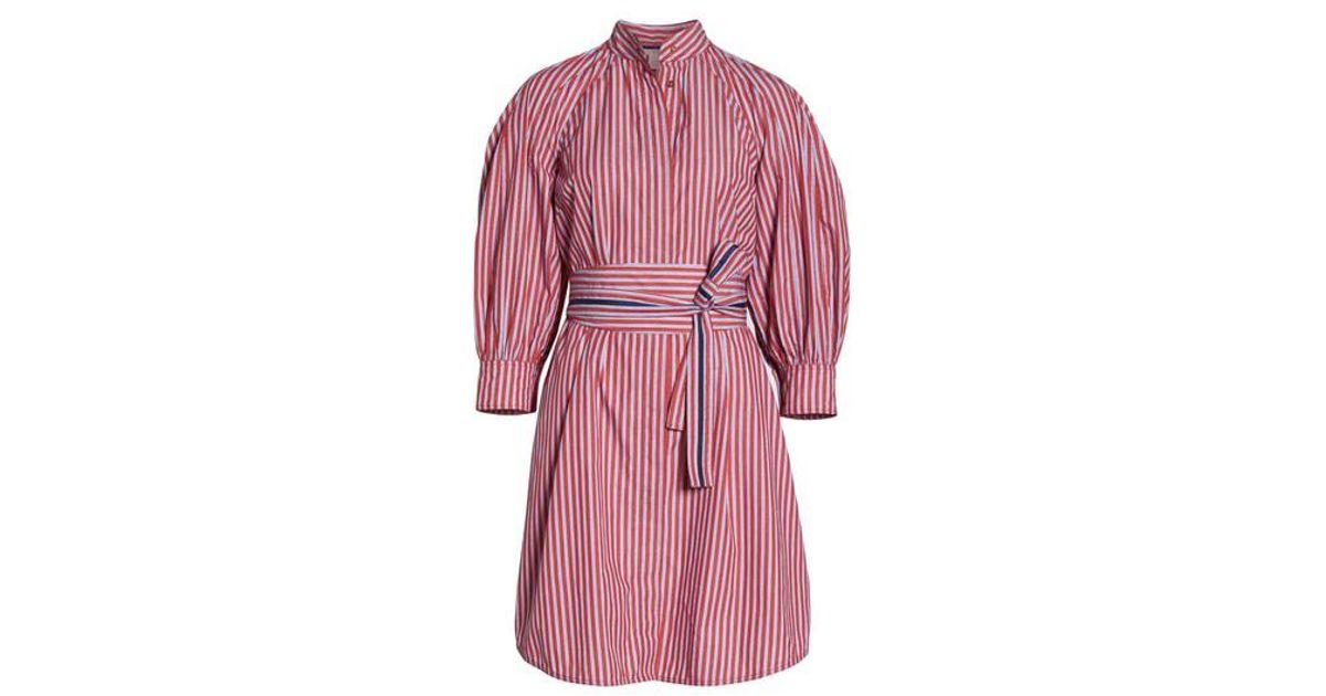 eab59dac967c Lyst - Nordstrom 1901 Stripe Tie Waist Shirtdress in Pink