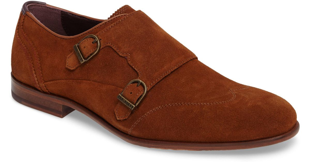 45f3bd586a3a2 Lyst - Ted Baker Rovere Wingtip Monk Shoe in Brown for Men