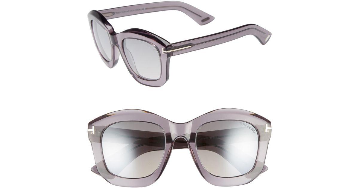 f74269c43714 Lyst - Tom Ford Julia 50mm Gradient Square Sunglasses in Gray
