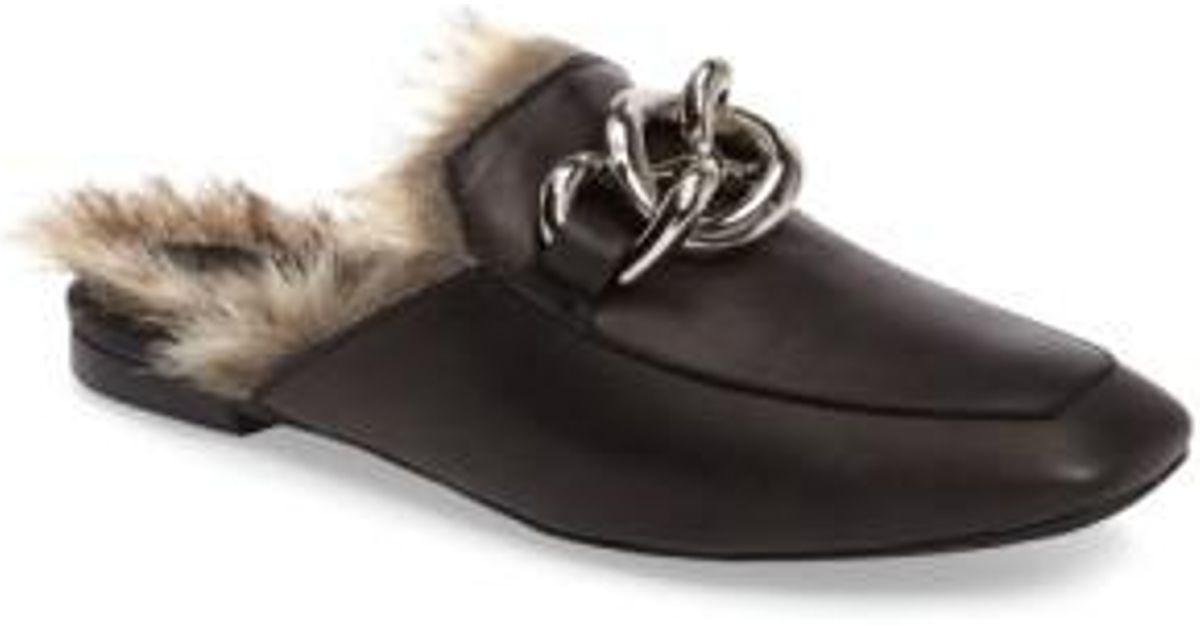 Jeffrey Campbell Ravis Faux Fur Lined Leather Mule Jl88il