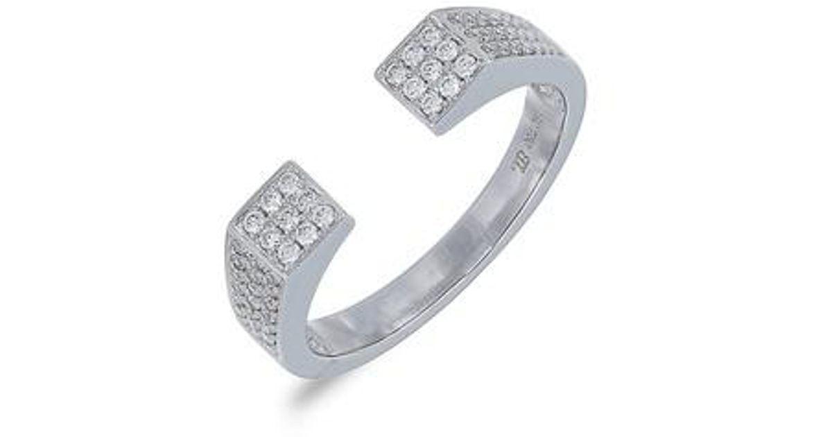 f17ab7c62 Lyst - Bony Levy Openwork Diamond Ring (nordstrom Exclusive) in Metallic