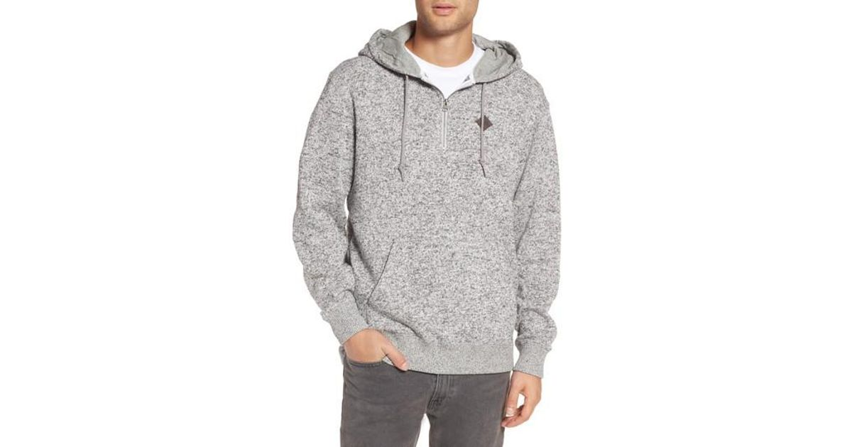 a563803fe3 Lyst - Vans Flurry Half Zip Hoodie in Gray for Men