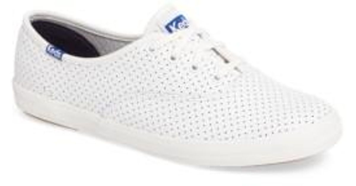 729d1fa6c1f Lyst - Keds Keds Champion Perforated Sneaker in White