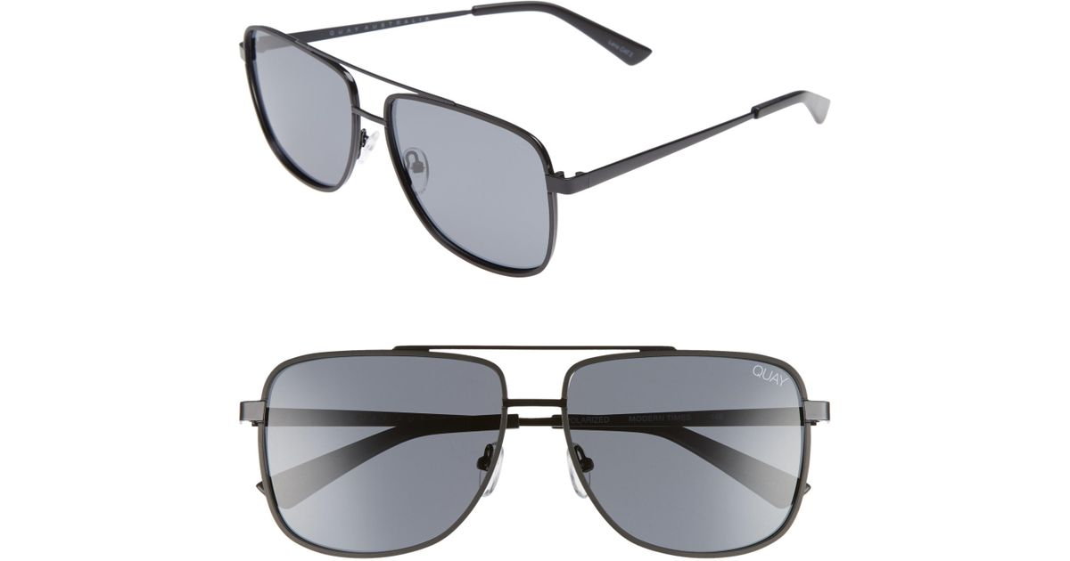 8a33193715 Lyst - Quay Modern Times 57mm Polarized Aviator Sunglasses in Black for Men