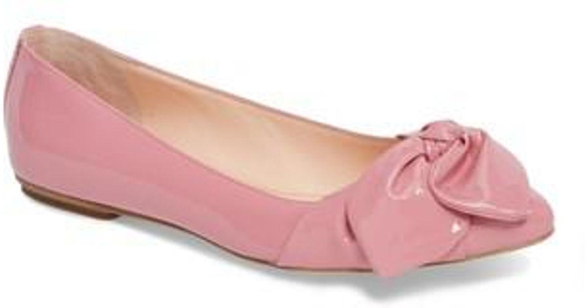 290113b9eee5 Lyst - Kate Spade Nancy Bow Flat in Pink