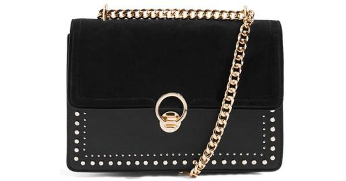 9ccba4e9193f Lyst - TOPSHOP Penelope Studded Shoulder Bag in Black