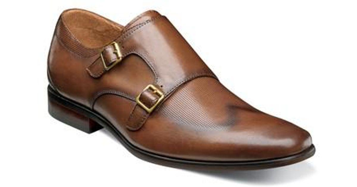 Florsheim Men's Postino Textured Double Strap Monk Shoe