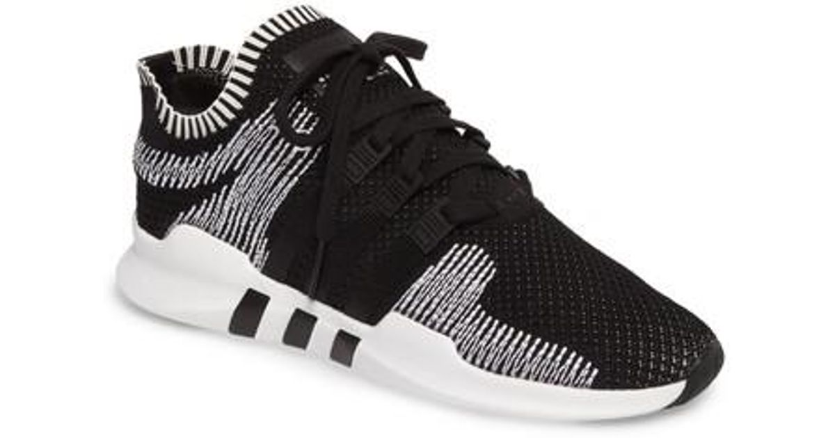da7f035bec8880 Lyst - Adidas Eqt Support Adv Primeknit Sneaker in Black for Men