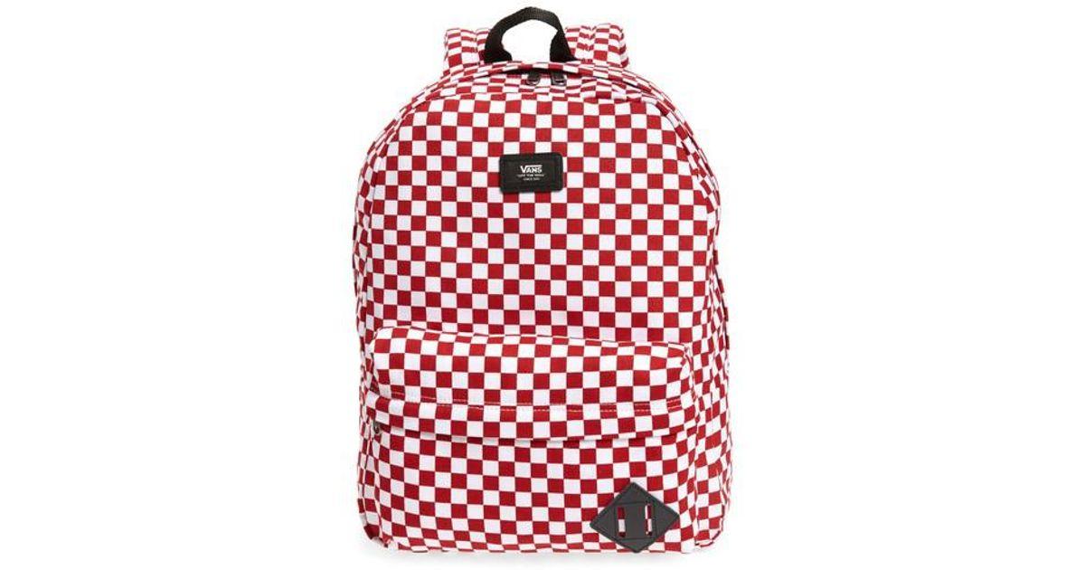 648ce16bd8f Vans Old Skool Ii Backpack - in Red - Lyst