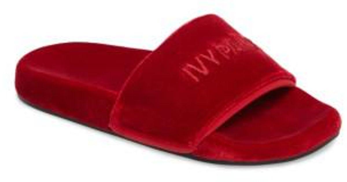 685616f9953 Lyst - Ivy Park Velvet Embossed Slide Sandal in Red for Men