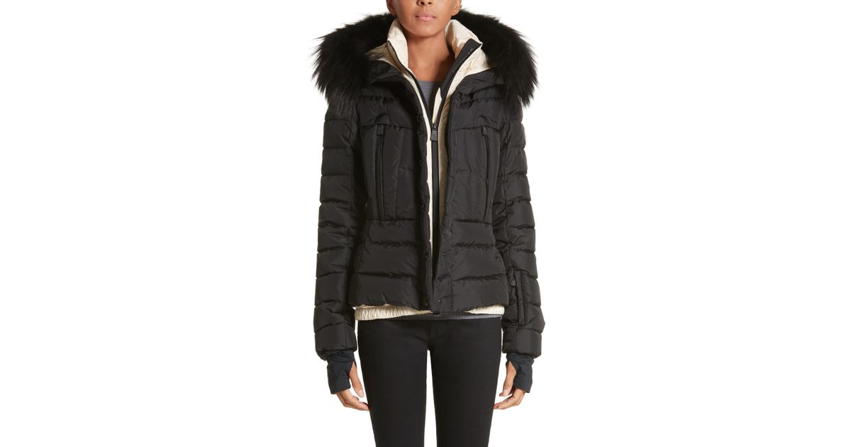 ffd44eb14 Lyst - Moncler Beverley Quilted Down Jacket With Removable Genuine ...