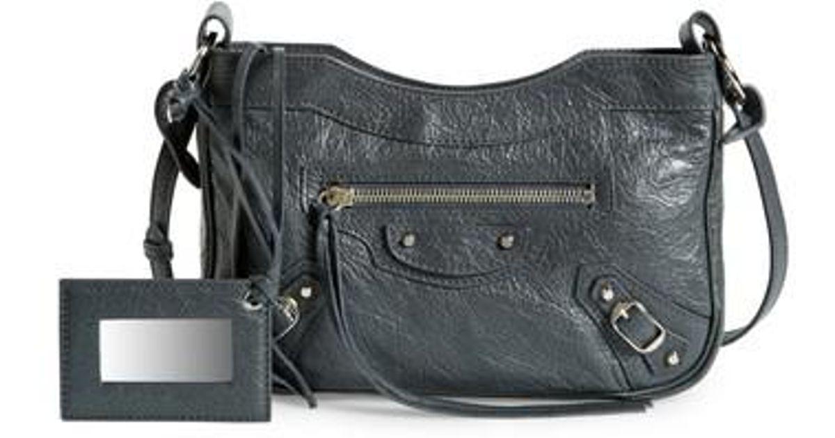 592f0718ace Lyst - Balenciaga Hip Leather Crossbody Bag in Black