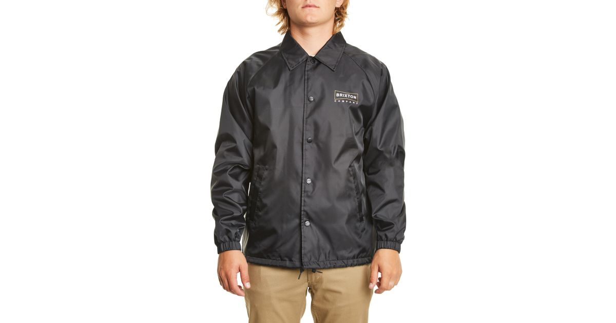 7e51fac91 Lyst - Brixton Wedge Water Repellent Jacket in Black for Men