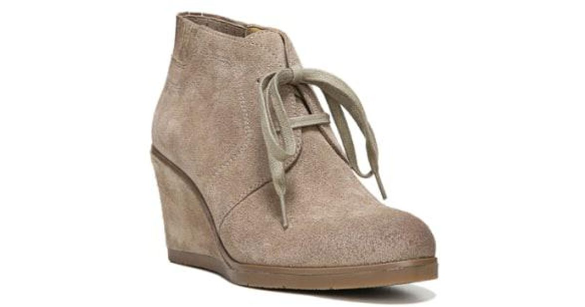 9814df1f1671 Lyst - Franco Sarto  austine  Lace Up Wedge Bootie