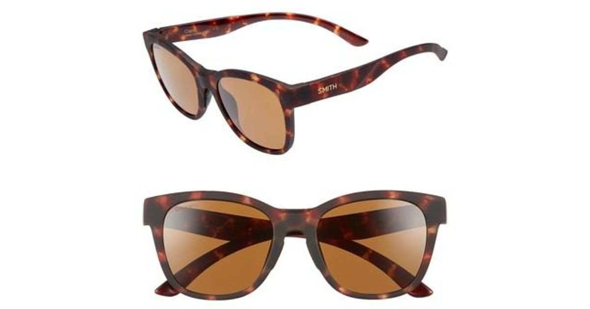 f0c0ca2cb7ad Lyst - Smith Caper 53mm Chromapoptm Square Sunglasses - in Brown