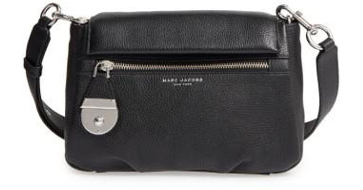 e944c4eb9ceb Lyst - Marc Jacobs The Standard Mini Leather Crossbody Bag in Black - Save  1%