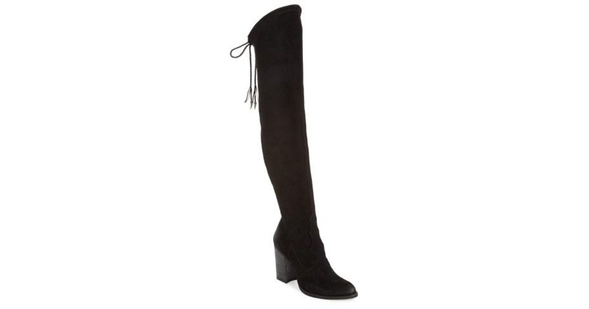 65c54f9f13f Lyst - Dolce Vita  chance  Over The Knee Stretch Boot in Black