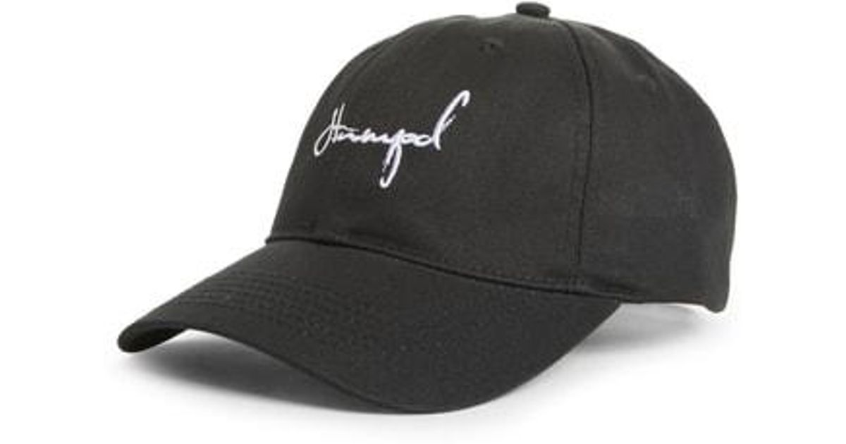 Lyst - Stampd Script Dad Cap in Black for Men 83fff322d81