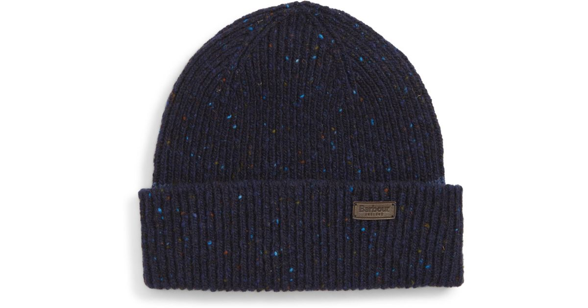 Lyst - Barbour Lowerfell Donegal Beanie Hat in Blue for Men 6e48daae1f8