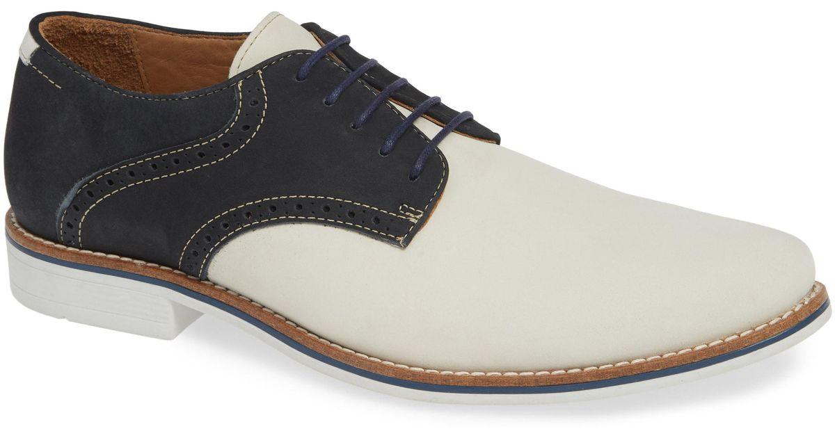 4a429e9df9d Lyst - Nordstrom 1901 Carmel Saddle Shoe in White for Men