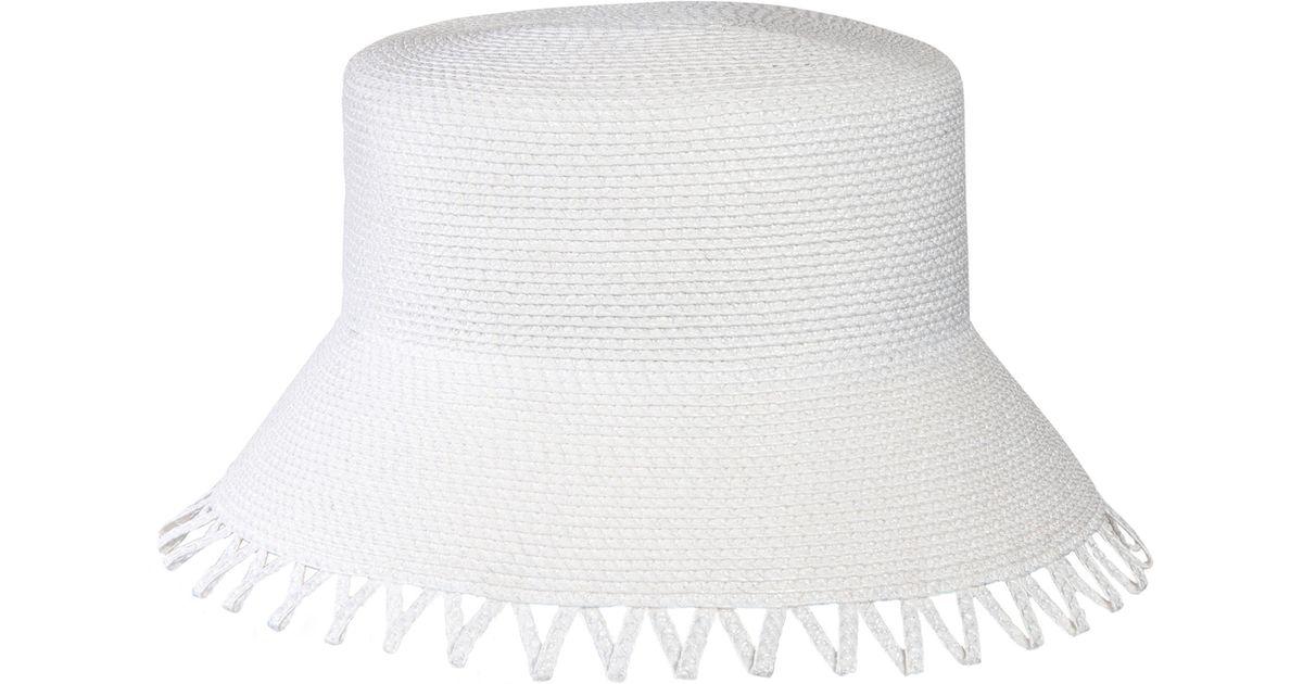 46c85dbf9dc Lyst - Eric Javits Eloise Squishee Bucket Hat in White