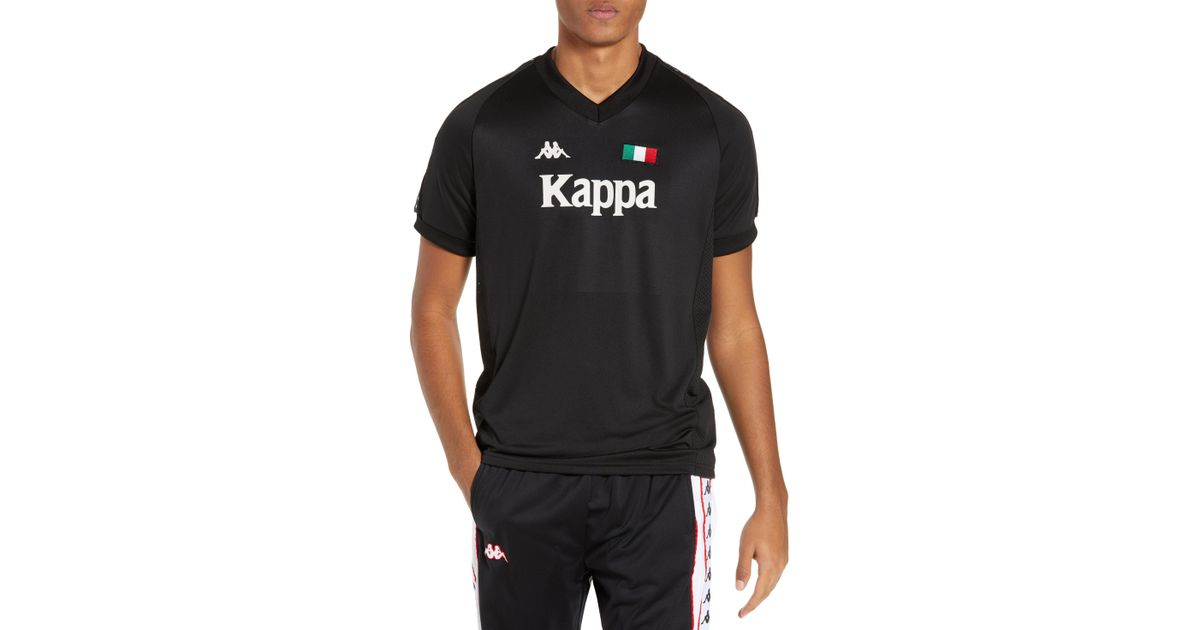 030461cc7c Kappa Active Authentic Bzalaya Soccer Jersey in Black for Men - Lyst