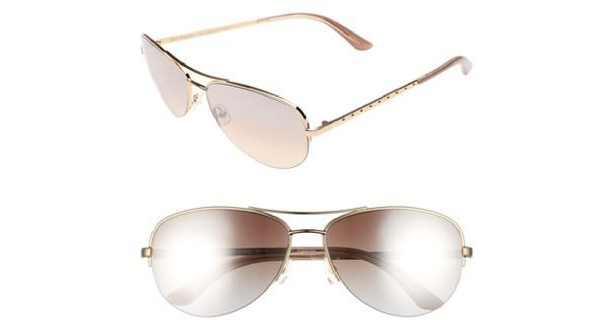 c7b7b0809daa Lyst - Juicy Couture Shades Of Couture By 60mm Gradient Aviator Sunglasses  - Light Gold in Metallic