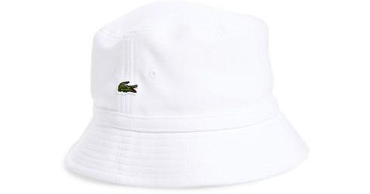 a3821b927 Lyst - Lacoste Bob Bucket Hat in White for Men