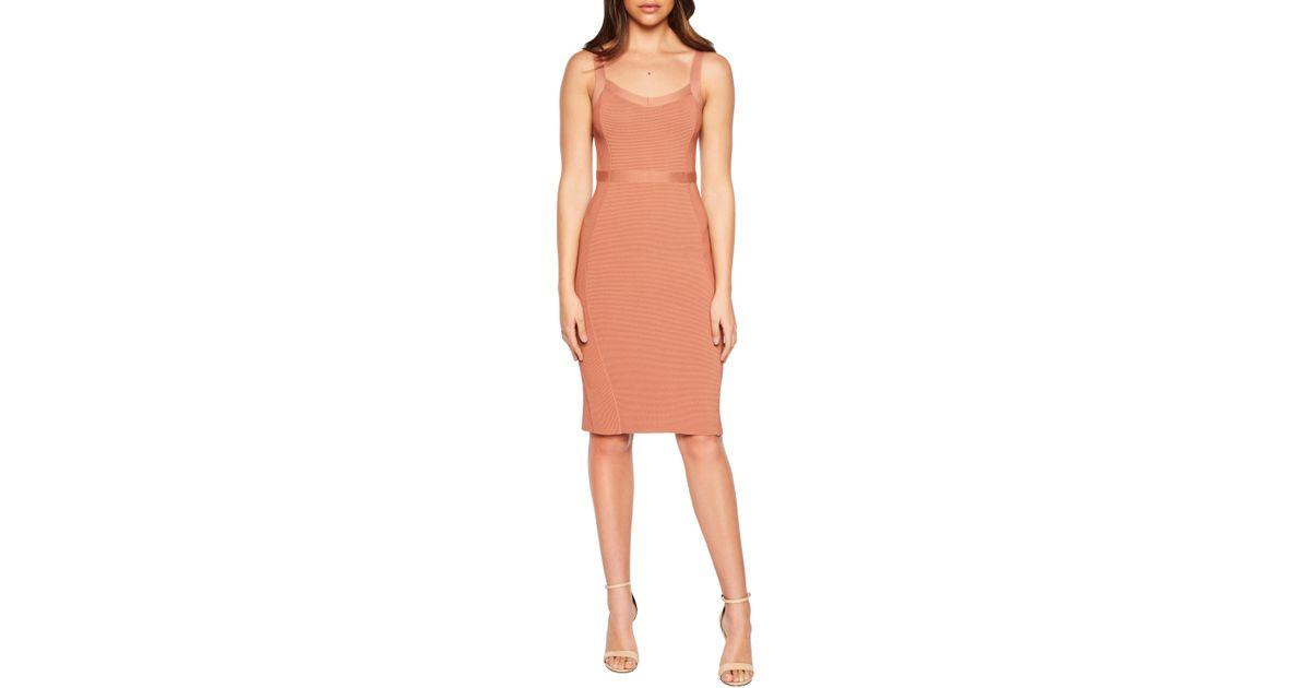 0a4862b65c8d Bardot Katy Mixed Stitch Sweater Dress in Brown - Lyst