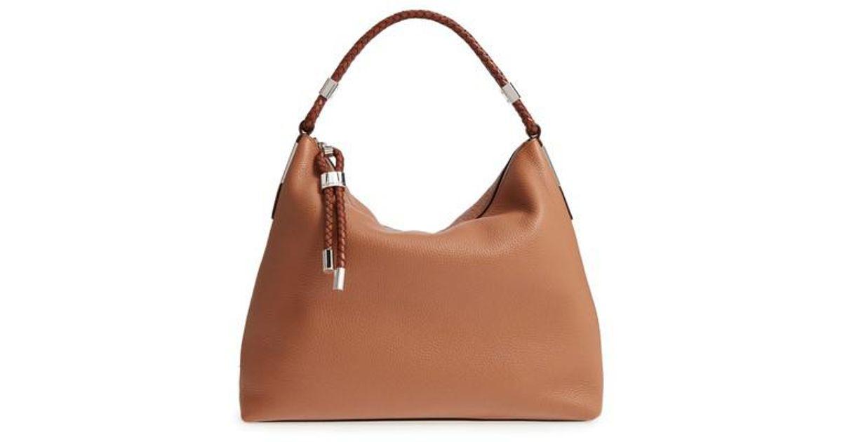 08810eeede1a Lyst - Michael Kors  skorpios  Slouchy Shoulder Bag in Brown