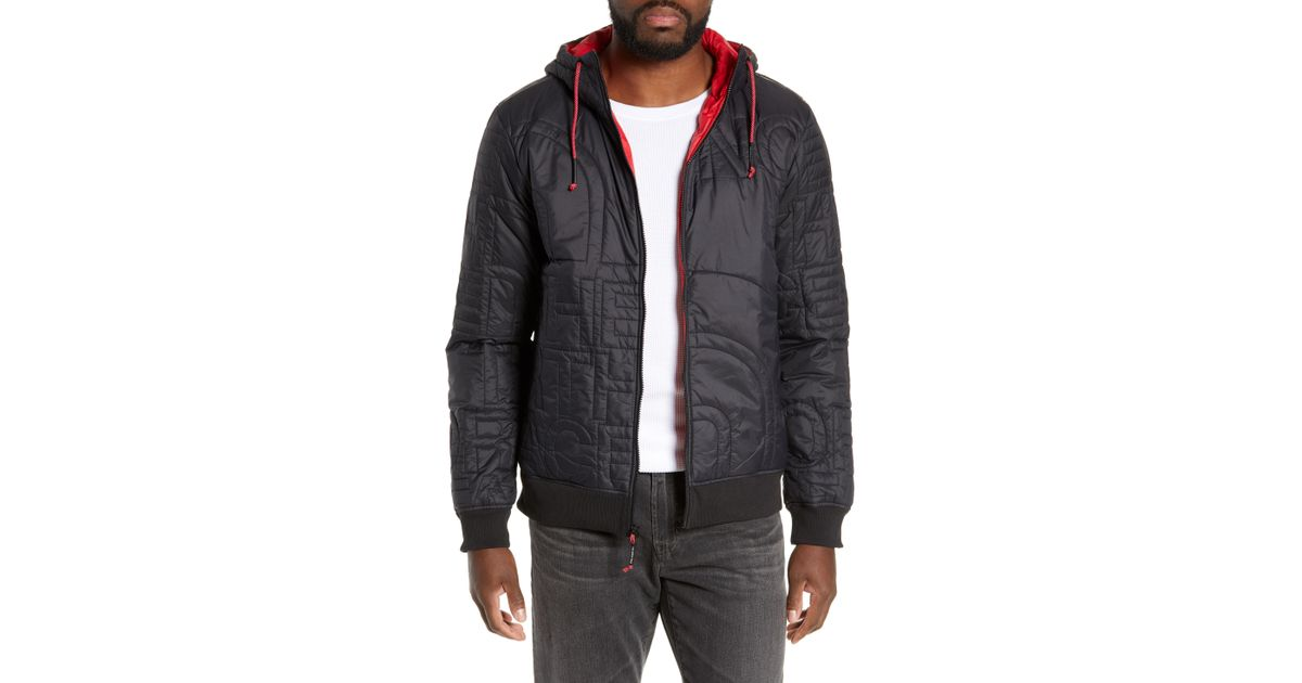 Lyst - The North Face Alphabet City Quilted Jacket in Black for Men 6a1d41f01