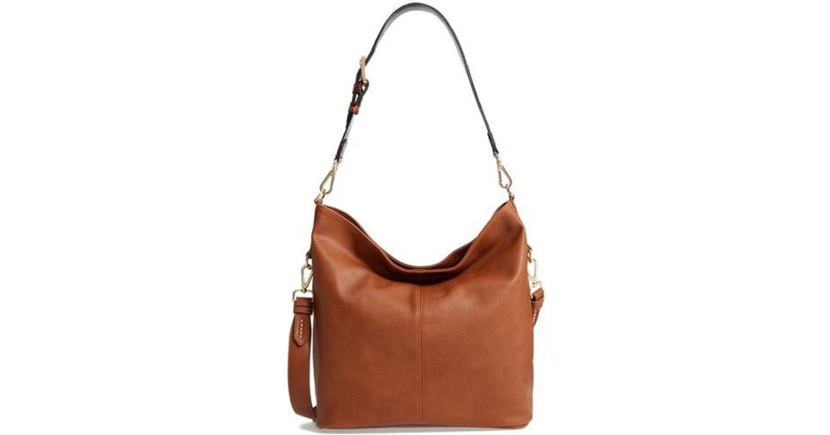 384b4743d35b Lyst - Steve Madden Faux Leather Hobo in Brown