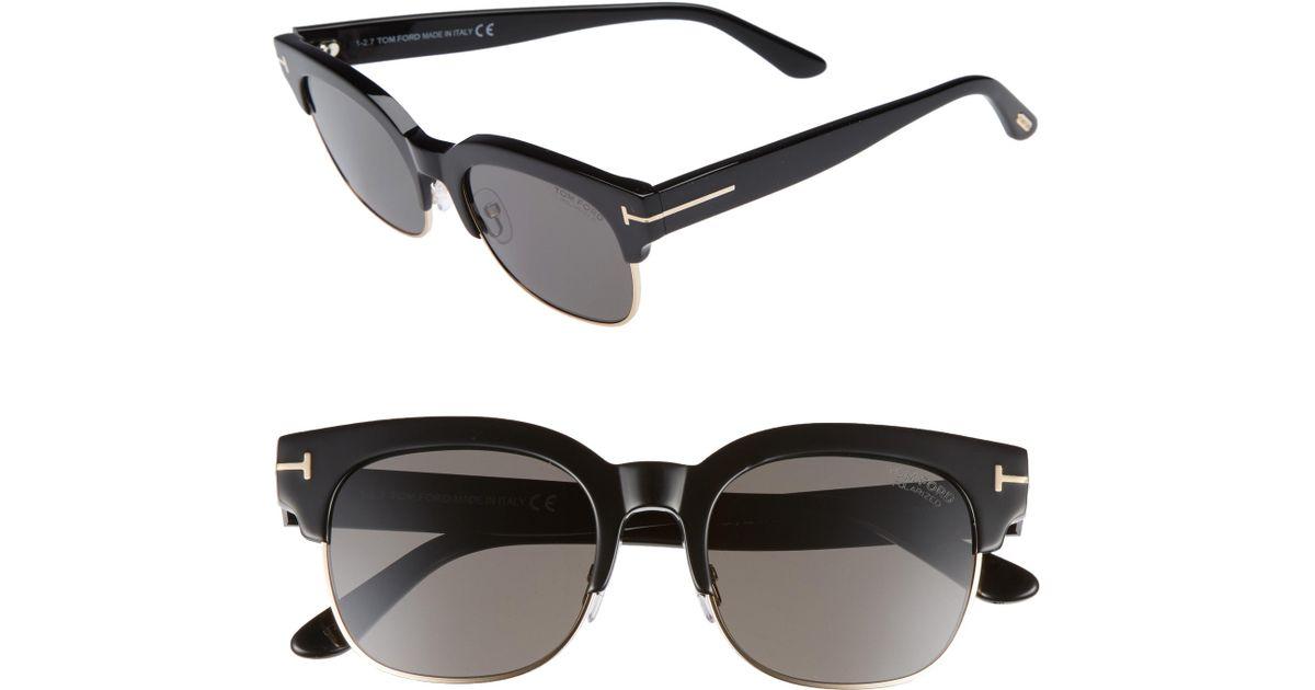 cb40909506f Lyst - Tom Ford Harry 53mm Half-rim Sunglasses - in Black