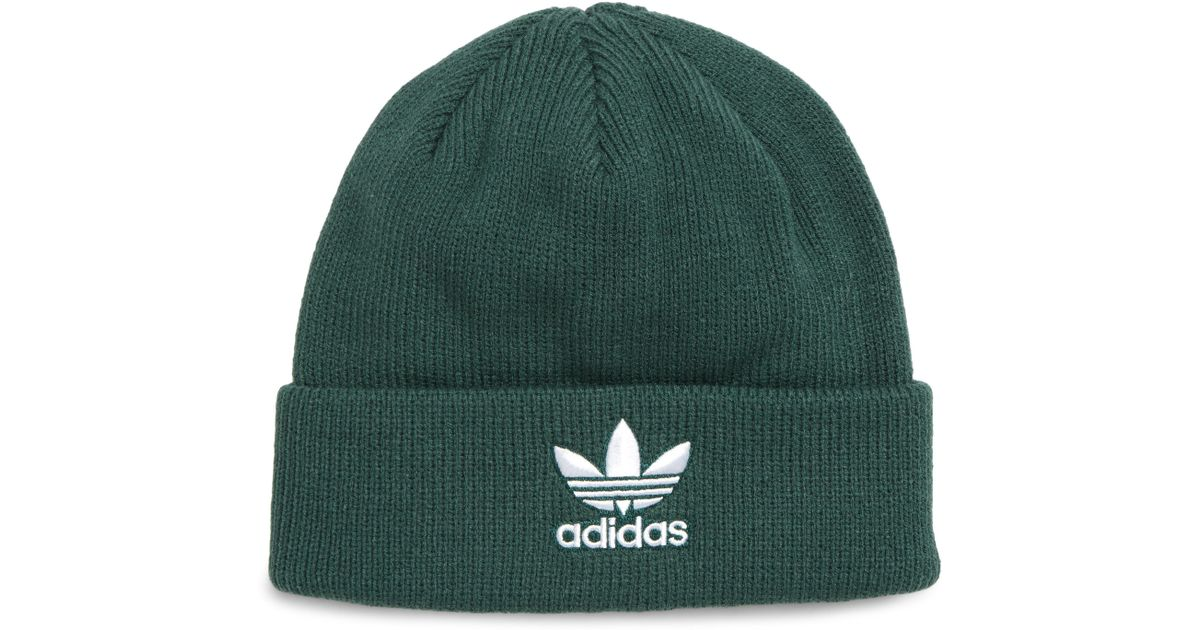 c369343a9caea adidas Originals Trefoil Beanie in Green for Men - Lyst