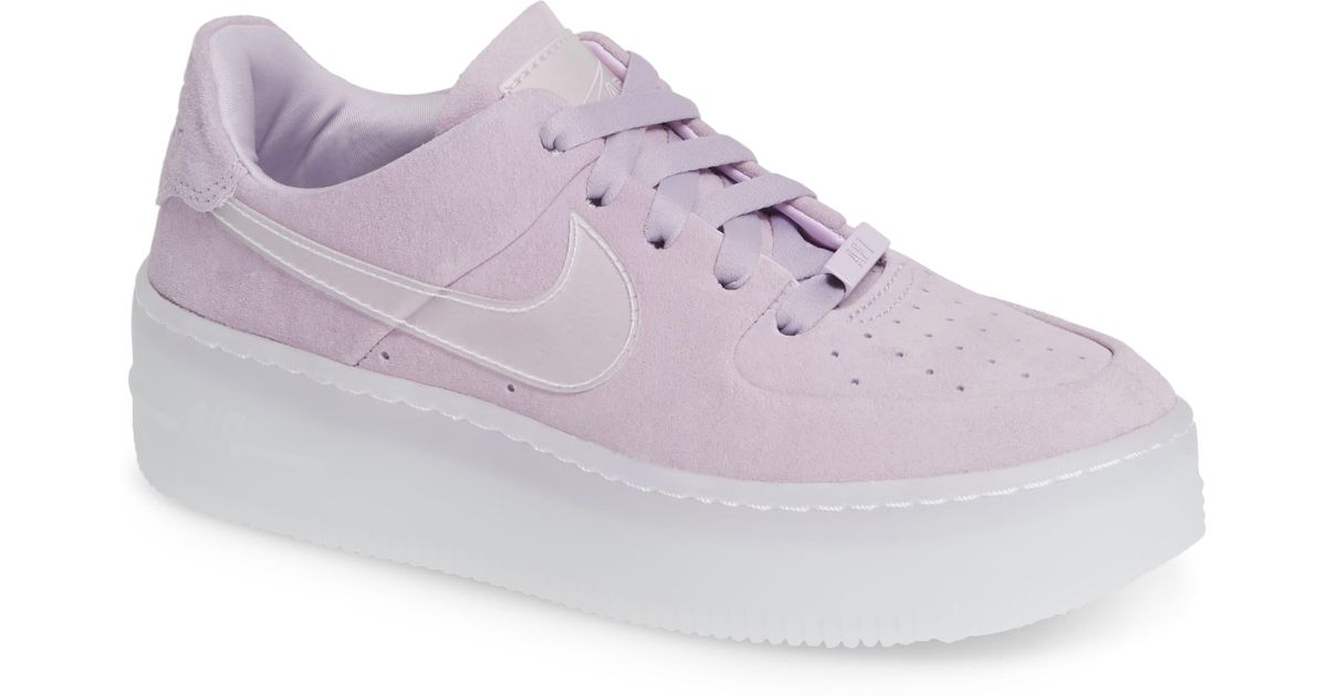 Nike Purple Air Force 1 Sage