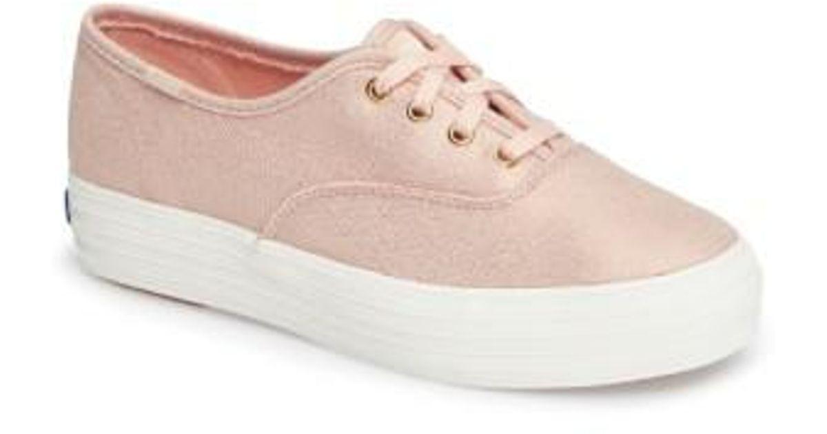 d4af603b87746 Lyst - Keds Keds Triple Deck Platform Sneaker in Pink