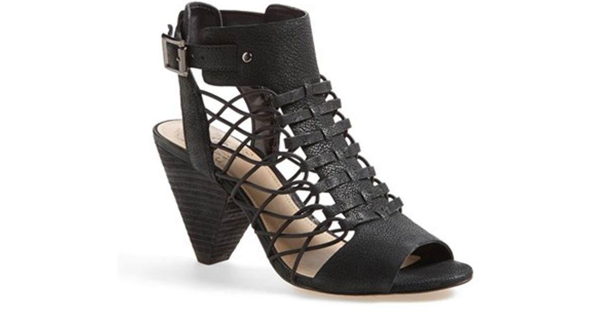 Vince Camuto Evel Leather Sandal In Black Lyst
