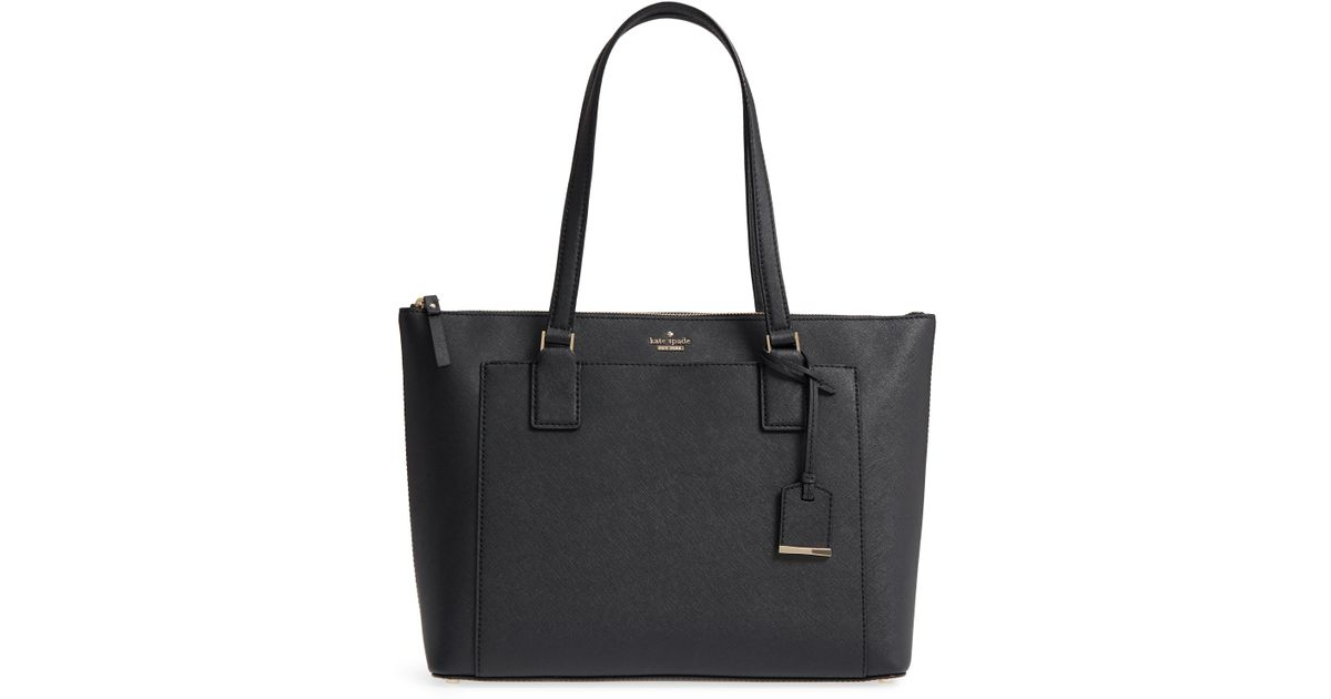 84d6b7a2e968 Kate Spade Cameron Street - Audrey Leather Laptop Tote - in Black - Lyst