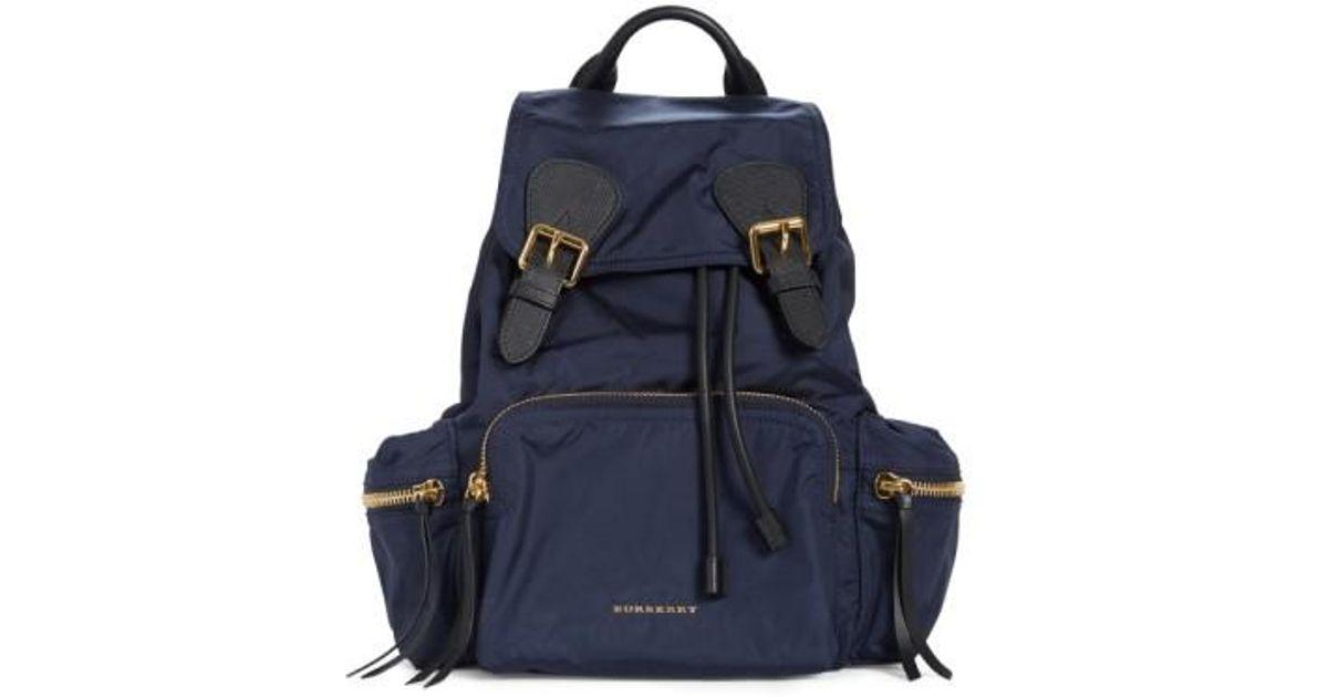 01f332f41e Burberry 'medium Runway Rucksack' Nylon Backpack in Blue - Lyst