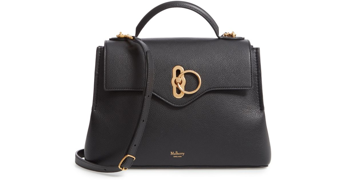 Lyst - Mulberry Small Seaton Leather Top Handle Satchel in Black 464c841d2812f