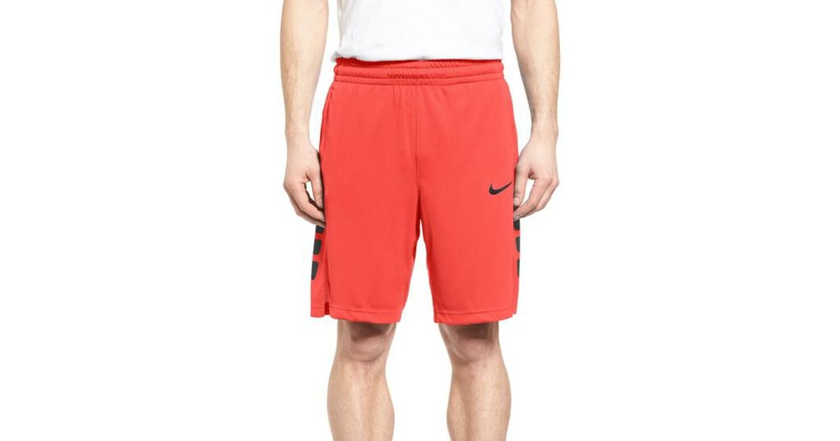 c6968b3a37d9 Lyst - Nike Elite Stripe Basketball Shorts in Red for Men