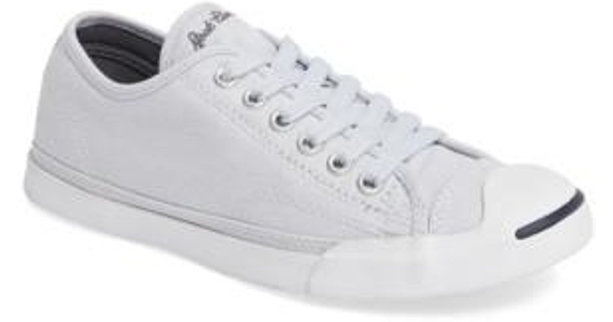 b6747348562e Lyst - Converse Jack Purcell Signature Ox Low Top Sneaker in White