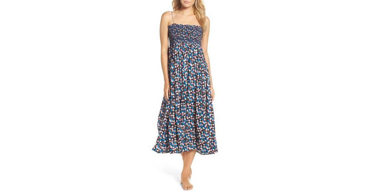 e430fad4861e1 Lyst - Tory Burch Prism Convertible Cover-up Dress in Blue